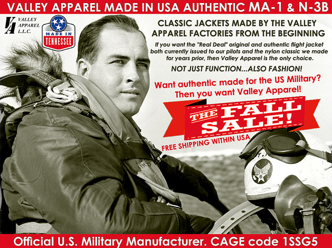 VALLEY APPAREL MADE IN USA AUTHENTIC MA-1 & N-3B