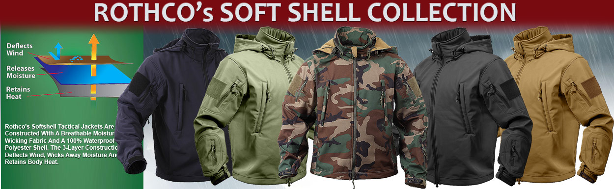 ROTHCO's SOFT SHELL COLLECTION