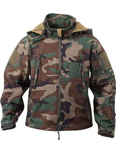 SPECIAL OPS TACTICAL SOFTSHELL JACKET - WOODLAND CAMO 9906