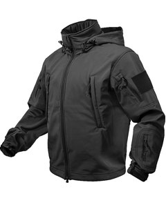 SPECIAL OPS TACTICAL SOFTSHELL JACKET - BLACK 9767