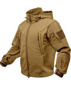 SPECIAL OPS TACTICAL SOFTSHELL JACKET - COYOTE 9867