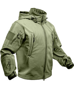 SPECIAL OPS TACTICAL SOFTSHELL JACKET - OLIVE DRAB 9745