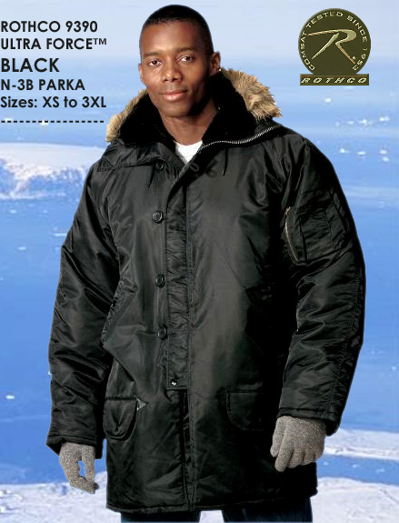 ULTRA FORCE BLACK N-3B SNORKEL PARKA 9390