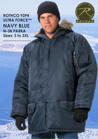 ULTRA FORCE NAVY BLUE N-3B PARKA 9394