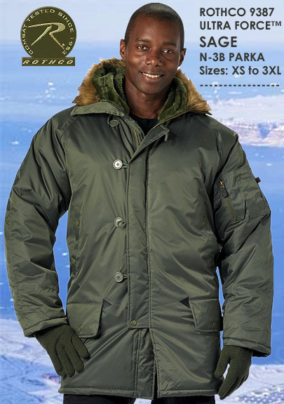 ULTRA FORCE SAGE N-3B PARKA 9387