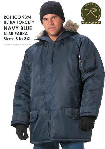 ULTRA FORCE™ NAVY BLUE N-3B PARKA 9394 - U.S. Army Navy Store