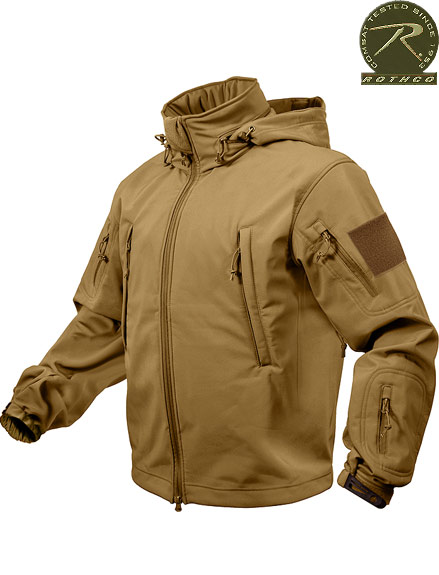 ROTHCO SPECIAL OPS TACTICAL SOFTSHELL JACKET - COYOTE 9867