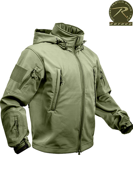 ROTHCO SPECIAL OPS TACTICAL SOFTSHELL JACKET - OLIVE DRAB 9745